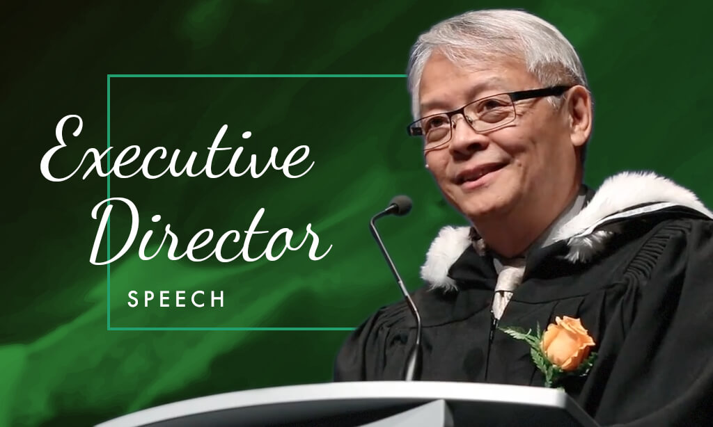 Executive Director Speech at May 2017 Graduation